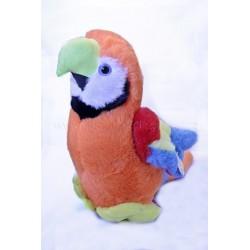 Plyšový Papoušek Ara oranžový