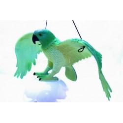Gumový Letící Papoušek Zelený